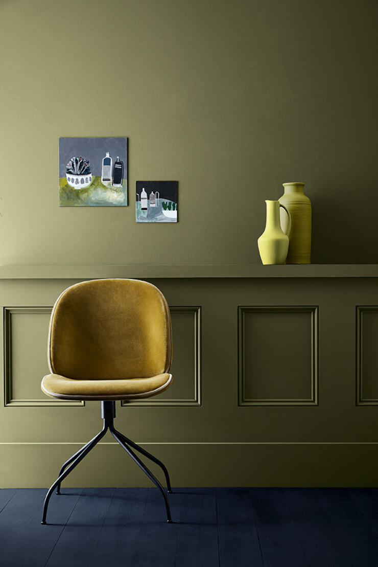 olive-colour-wall-chair